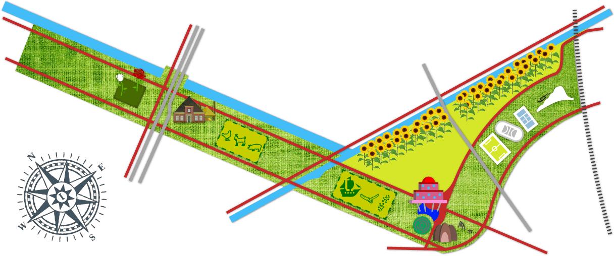 Kaart Cascadepark Almere Poort