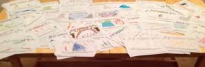 Verzameling tekeningen Sleeheuvel Cascadepark
